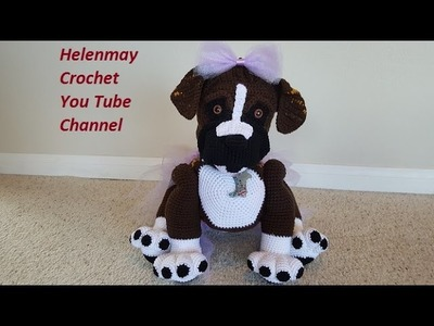Crochet Amigurumi Boxer Dog Money Bank DIY Video Tutorial