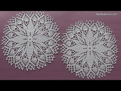 Crochet How to crochet doily Part 5  15   17 round  Crochet doily rug tutorial