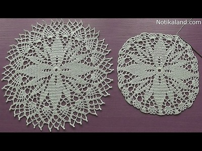 Crochet How to crochet doily Part 4  12   14 round    Crochet doily rug tutorial