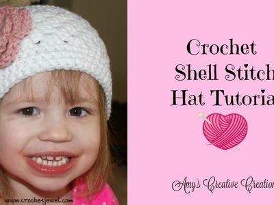 Crochet Shell Stitch Hat Tutorial