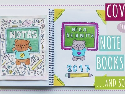 CUSTOMIZED NOTEBOOK COVERS ???? DIY ???? DESIGNS FOR SCHOOL PROJECTS (with kawaii drawings)