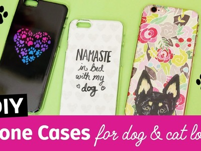 Cute DIY Phone Cases for Dog & Cat Lovers! | Sea Lemon
