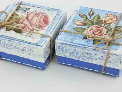 Decoupage small boxes - Fast & Easy Tutorial - DIY