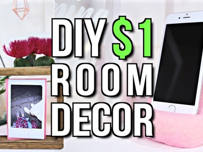 DIY $1 ROOM DECOR! Tumblr Inspired 2017