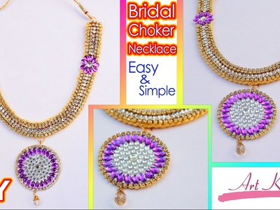 DIY: Bridal Choker | Bridal Silk Thread Necklace at Home | Tutorial | Artkala 113