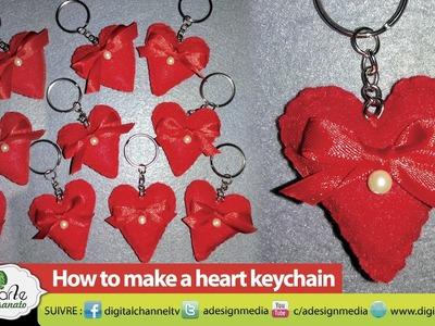 DIY Crafts: How To Make A Heart Keychain Tutorial - Handicraft