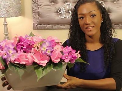 DIY Dollar Tree: How to make a Spring Floral Pot Arrangement ????????????????   NEW Spring Flowers