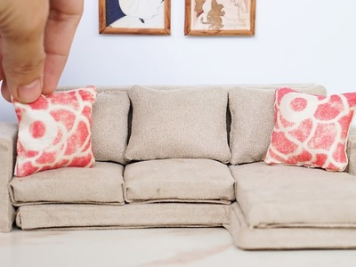 DIY Dollhouse Miniature Modern Sofa Tutorial - Dolls, Nendoroid, LPS