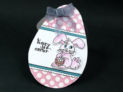DIY Easter Greeting Card - Easy Easter Bunny, Egg Shaped Card Making