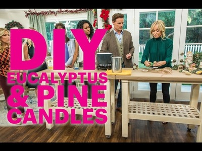 DIY Eucalyptus and Pine Candles | Do It Yourself Gift and Decor Tutorial