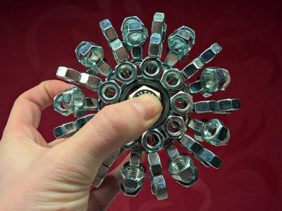 DIY Fidget Toy Challenge 3 | DIY Fidget Toy | Hand Spinner | 100 Hex Nut Spinner