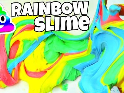 DIY FLUFFY RAINBOW SLIME WITHOUT BORAX!!!