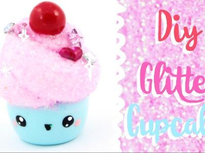 ♡ DIY GLITTER Cupcake Charm! ♡ | Kawaii Friday