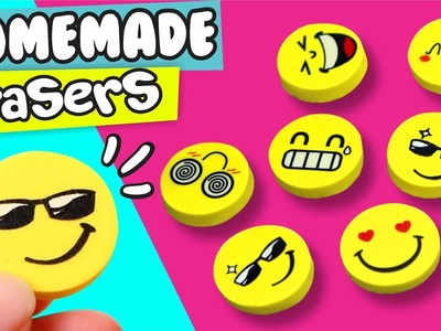 DIY ★ HOMEMADE EMOJI ERASER ★ Easy DIY Crafts By Pau