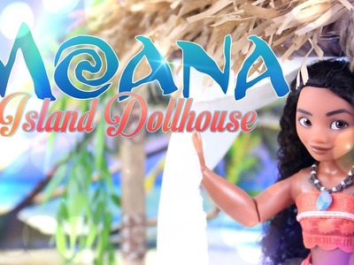 DIY - How to Make: Disney Moana Dollhouse - Handmade - Doll - Craft - 4K