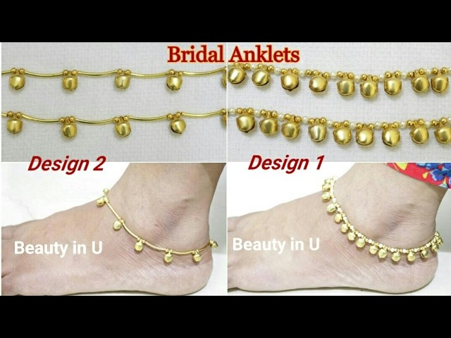 DIY |How to make Easy Designer Bridal Anklets at Home | Tutorial