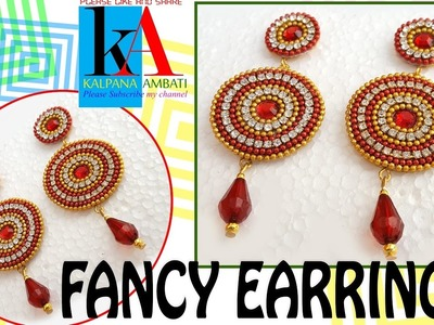 DIY - how to make paper earrings - made out of paper - tutorials