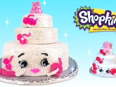 DIY How To Make Super Sparkle Glitter Shopkins Wendy Wedding Cake With Play Doh