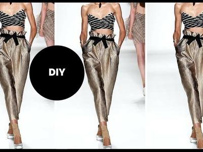 DIY I HOW TO MAKE PAPER BAG WAIST  PANTS I Beginner Sewing