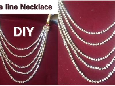 DIY Ideas  How To Make Stone line Jewellery   Home Tutorials   5 line jewellery. !!
