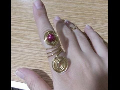 DIY Jewelry Making - How to Make Wire Wrap Ring + Tutorial !