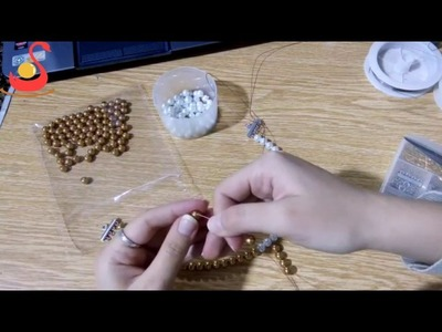 DIY Jewelry Making - How to Make Beading Collar + Tutorial !