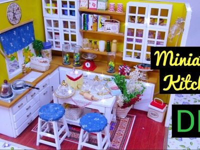 DIY Miniature Dollhouse Kit Cute Kitchen Room with Working Lights!. Ami DIY