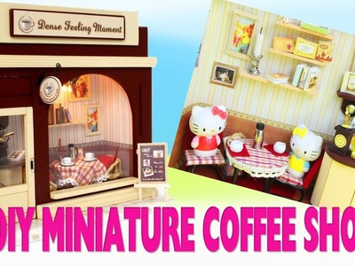????DIY  Miniature European Coffee Shop Dollhouse Tutorial - 5 Minute Video - simplekidscrafts