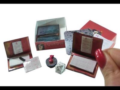 DIY Miniature ▲Scattergories▲ for Dollhouse TUTORIAL – Crafts