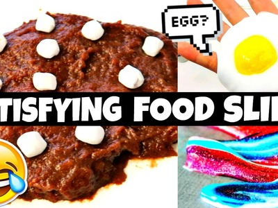 DIY ODDLY SATISFYING FOOD SLIME YOU'VE NEVER SEEN! (HOT CHOCOLATE, EGG, KOOLAID)