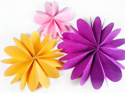 DIY paper flower for wall backdrop decoration. arts and crafts paper flowers easy for kids