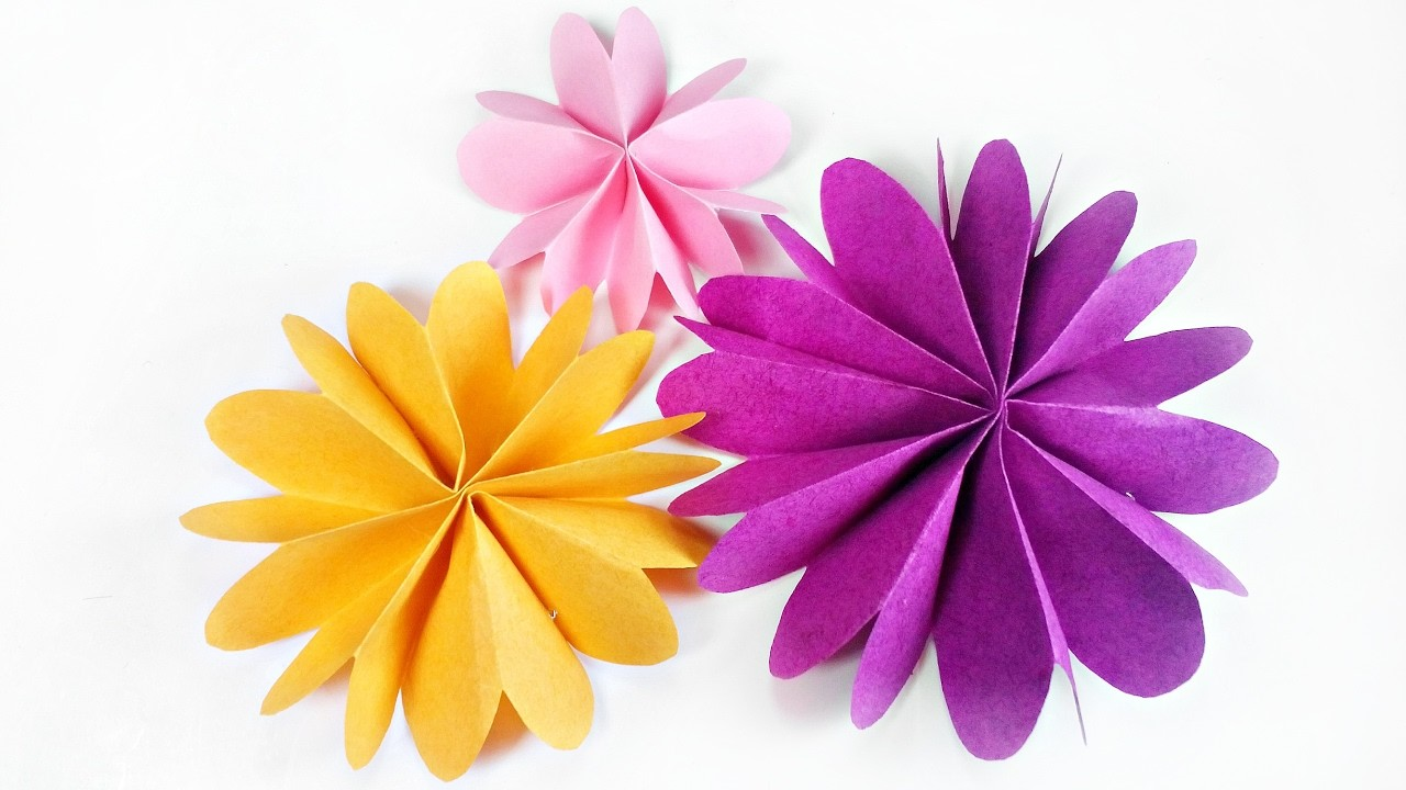 Diy Paper Flower For Wall Backdrop Decoration Arts And Crafts Paper