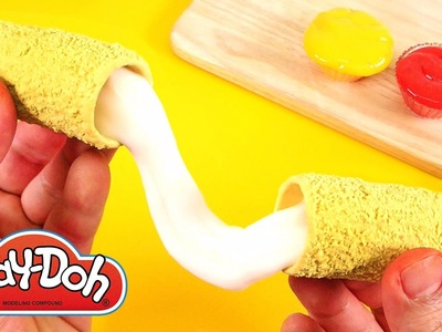 DIY REAL CHEESE STICK SLIME ! With Play doh~ How To Make Cheese Slime