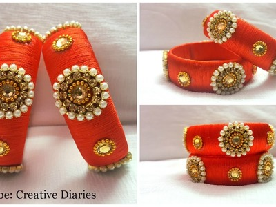 DIY Silk thread Bangle: How to make red bridal bangle at home I Creative Diaries