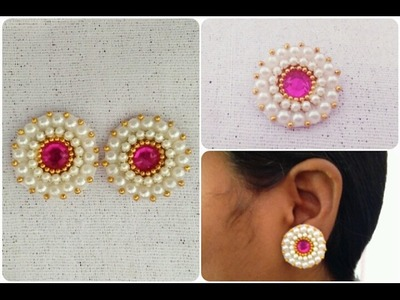 DIY. Simple and easy earrings. Beautiful Earrings Tutorial