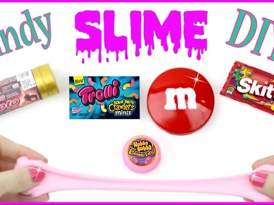 DIY Slime {Easy}! 5 AMAZING Candy Slime Mini DIYs! Bubblegum, Skittles, Gummy Worm. Cool DIY Crafts