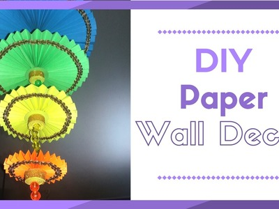 DIY wall hanging Craft Ideas using colour paper | Decorating Ideas For Living Room | Maya Kalista!
