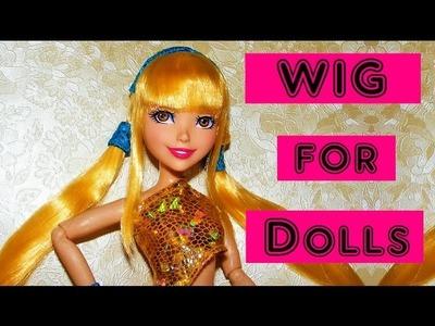 Doll Wig Tutorial - How to make Winx Club Stella's Wig