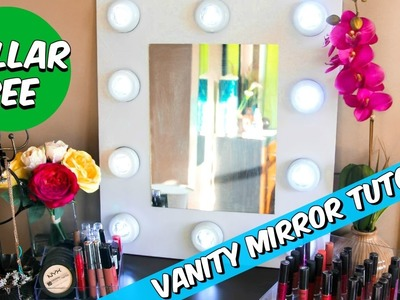 DOLLAR TREE VANITY MIRROR D.I.Y TUTORIAL