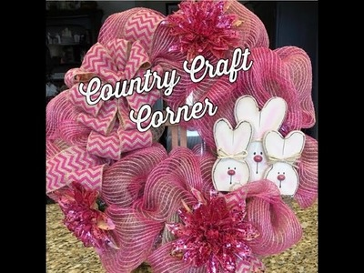 Easter Deco Mesh Wreath Tutorial (w.Craft Bow Tutorial Included)