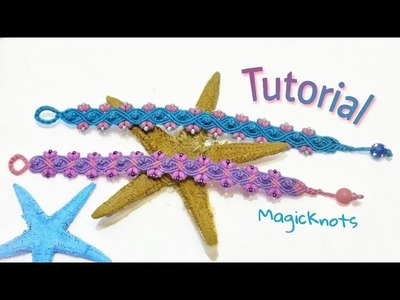 Easy Macrame Wave Bracelet with Beads ♥ DIY ♥