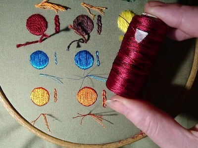 Embroidery Basics 4 - Threads Beginner Craft Jitsu. What Thread Should I Use? Online Class