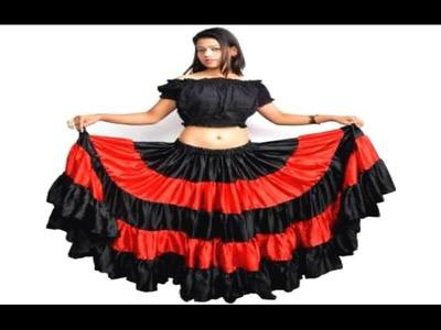 Gypsy Full Flared Skirt Cutting And Stitching (DIY)
