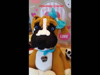 Helenmay Crochet Amigurumi Boxer Dog Part 3 of 3 DIY Video Tutorial