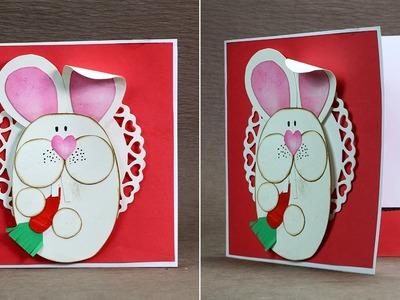 Homemade Easter Card - DIY Easter Bunny Card