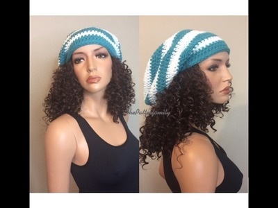 How to Crochet a Slouchy Hat Pattern #59│by ThePatternfamily