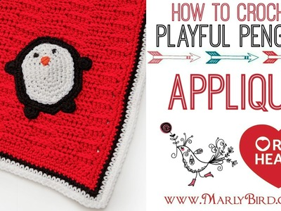 How to Crochet Playful Penguin Applique
