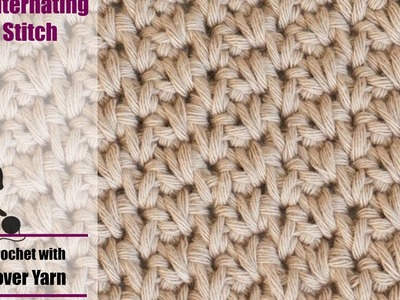 How to crochet the Alternating Spike Stitch