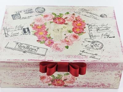 How to make a decoupage box - Fast & Easy Tutorial - DIY
