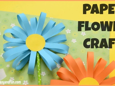 How to Make a Paper Flower - flower craft